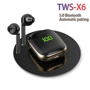 New X6 tws wireless bluetooth Portable bluetooth speaker Surround stereo Touch control TWS Automatic pairing when opening the lid PK i12 i9s