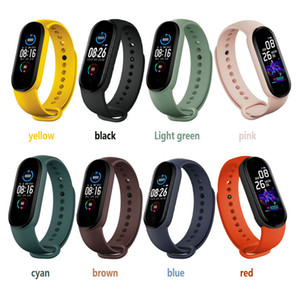 2020 New M5 Smart Call Regarder Smartband Sport Fitness Tracker intelligent Bandeaux Pression artérielle réel moniteur de fréquence cardiaque Smartwatch étanche