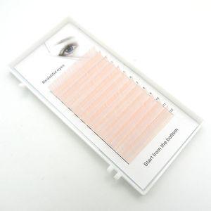 HBZGTLAD New C D curl 0.07 0.1mm 8 14mm false lashes light pink eyelash individual colored lashes Faux volume eyelash extensions