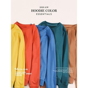 SIMWOOD Autumn New Hoodies Men Casual Minimalist Sweatshirt O-neck Embroidery Plus Size Basic Pullover SI980547 200922