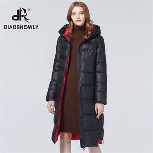 Diaosnowly 2020 новые толстые куртки с капюшоном верхней одежды пальто для женщин нагреться долго Parka моды зимней одежды C0925