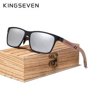 KINGSEVEN 2020 Madeira Homens óculos polarizados madeira Sun Glasses por Mulheres Espelho Lens Handmade Moda UV400 Óculos Acessórios