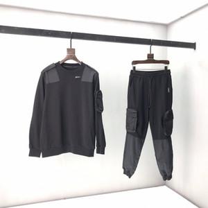 2020 الدعاوى الأزياء أوروبا فرنسا باريس 2054 3D جيب كبير نايلون هوديي البلوز بنطال رياضة رجل رياضة رياضية للنساء