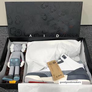 2020 новый дизайнер KAWS х 3 3s Мода Måns размера Лучшие качества Мужчины 40-47 Баскетбол обувь кроссовки с коробкой