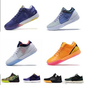 Les nouveaux hommes Zoom KB4 Bryants 4 IV chaussures de basket-ball protro ZK4 Academy USA Laker Violet Jaune Bleu Lebron 17s ZK baskets tennis avec boîte