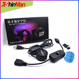 ShinMan Super Cool USB Car Armrest box Starlight interior light Laser projector lamp Decorative Atmosphere light For All Car