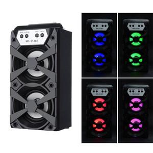 HIPERDEL Bluetooth Speaker Беспроводной портативный MS-512BT многофункциональные цветные световые колонки Super Bass USB / TF / AUX / FM-радио C327