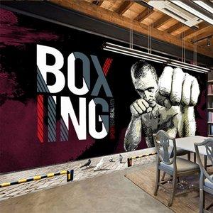 2020 Modern personality 3D graffiti wallpaper fitness club gym background wall painting waterproof decorative wall fabric