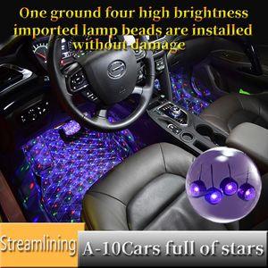 새 차 지붕 스타 라이트 실내 미니 LED 별이 빛나는 레이저 분위기 주위 프로젝터 조명 USB 자동 장식 밤 갤럭시 램프