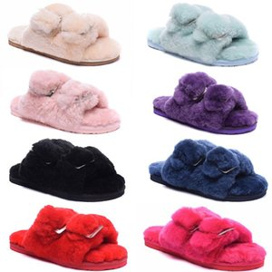 Kalite Yeni Moda Bayan Kürk Terlik Kış Ayakkabı avustralya Peluş Pantufa Kadınlar Kapalı Sıcak Kabarık Terlik Pamuk Ayakkabı CI1q #
