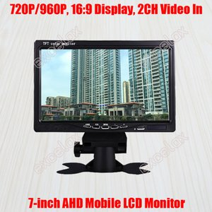 """7-Inch 720P 1MP 960P 1.3MP HD AHD Mobile Monitor 7"""" LCD Display 2CH A V Video Car Rear View for CCTV Surveillance Vehicle Mount"""