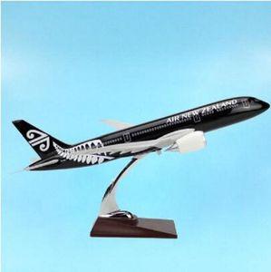 2020 Nova Aircraft preto Nova Zelândia Airlines 1/145 escala airbus 43cm Aviões Aviation luz modelo Diecast Avião Boeing B787