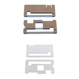 4 Pièces Acrylic Case Shell boîtier protecteur tranche pour Raspberry Pi Zero - bleu clair