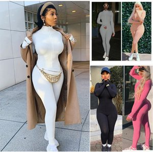Mulheres Jumpsuit macacãozinho pijama senhoras Onesies manga comprida Body Plus Size Styles Dhl Roupa macacãozinho 2020
