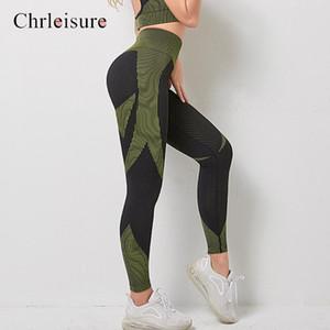 La aptitud de las polainas de las mujeres de cintura alta Legging jogging polainas de las mujeres empujan hacia arriba los pantalones de entrenamiento Ropa para Mujer