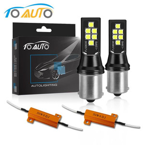 في canbus 1156 BA15S P21W BAU15S PY21W 1157 BAY15D P21 / 5W LED مصباح سيارة بدوره خطأ الإشارة أضواء الفرامل عكسي مجانية لمبات السيارات 12V
