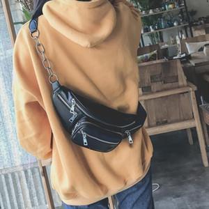 XINGMING New Women Waist Bag Multifunction Women Waist Pack Fashion Leather Phone Bags Small Belt Bag Cool Fanny Packs Women