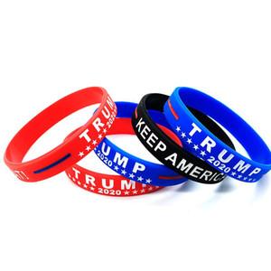 رئيس أمريكا الانتخابات ترامب إبقاء أمريكا سيليكون المعصم العظمى USA المشجعين الهدايا CollectableBracelets كيت للجنسين ازدهار DHB1505