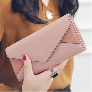 New Style Envelope Designer Clutch Wallets For Women Hasp Pocket To Coin Card Holder Female Purses Long Wallet Ladies