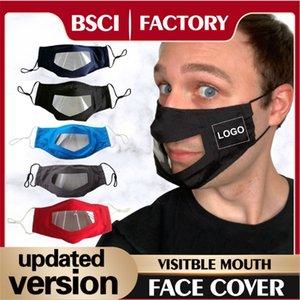 2020 Custom logo cara llena máscara protectora transparente de PET contra la niebla de guardia protector de cara unisex Gas a prueba de seguridad EWC2035 máscara