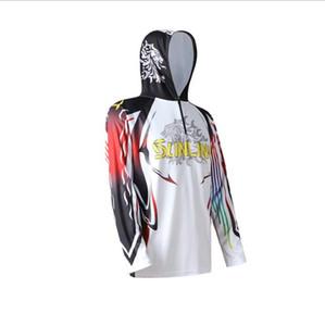 2020 Nuova Estate Outdoor Abbigliamento sportivo Pesca camicia anti-uv protezione Escursionismo Pesca Abbigliamento Sun Protection T-shirt