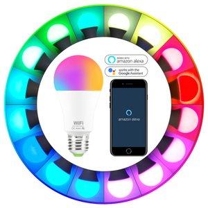 9w Wifi Smart Bulb E27 Rgb Light Works With Alexa google Home Ac85-265v Rgb + White warm White Timer Function Magic Bulb