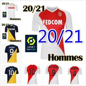 2020 2021 Qualidade superior como Mônaco Ben Idder futebol camisas jovic golovin 20 21 Maillot de pé flocagem jorge camisa de futebol