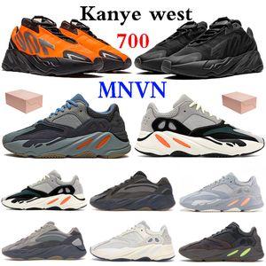 Arancione Kanye West 700 riflettenti scarpe Tie-dye Triple nero Runner Solid Grey esecuzione Carbon alzavola Blu vanta magnete uomini donne scarpe da ginnastica