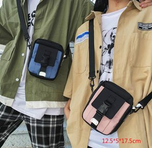 HBP Street Tide Brand Bag Retro Bag Ins Canvas Tooling Messenger Cool Borsa a tracolla Uomini e donne selvaggia
