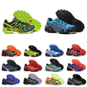 salomon sneakers 판매 최신 속도는 3 CS 야외 남성 신발 SpeedCross 3 III 블랙 그린 운동화 남성 스포츠 운동화 scarpe의 zapatos 40-46을 실행 교차