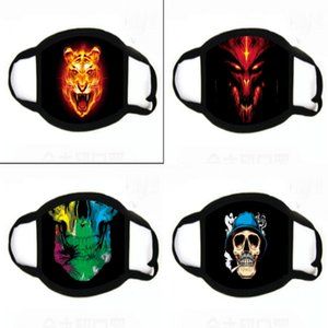 Alloween Orror diable impression Masques Sile Ruer impression Masques Parti alloween Loup Masque Gants loup pour alloween Party # 623