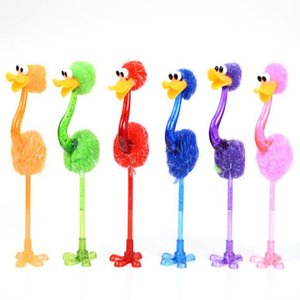 Забавный страус Шариковая ручка Студент Канцелярские Творческий мультфильм игрушки Ручки Офис Школа Pen Дети Лучшие подарки
