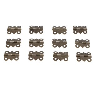 12pcs pack Jewelry Chest Gift Box Dollhouse Door Window Cabinet Hinge Bronze