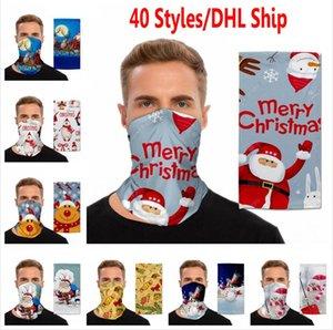 Noel Magic Turban Baş Açık faceshield Spor Bisiklet Noel Eşarp Dekorasyon Dağcılık Fonksiyonlu Yüz Kapak Maske Caps