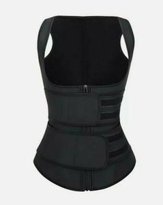 Waist Trimmer Doppia Cintura fitness Sauna Fascia assorbi-sudore corsetto cincher vita Trainer Vest Back Support Faja dimagrante cintura corpo Shaper DHL