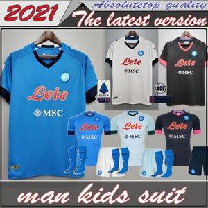 20 21 Napoli camisa del fútbol del jersey de fútbol de Nápoles 2020 2021 KOULIBALY camiseta de Fútbol INSIGNE Milik maillots H.LOZANO MERTENS HOMBRE INFANTIL