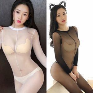 JT2fX Silk Stockings facemulticolor lingerie sexy meias-range aberto das mulheres sexy temptation underwear de seda
