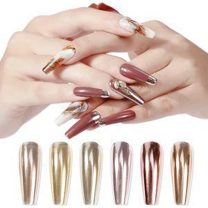5 cOLORS 1 PC GLITTER Nail Art MIRROR Gold Powder Magic Pen Solid Titanium Dazzling Pink Pen Air Cushion Fairy Powder Magic