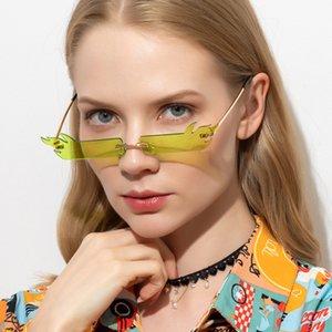 2020 piccola lente da sole donne Fiamma Piccolo Eyewear rettangolare di vetro di Sun di moda Cat Eye Sunglasses Streetwear