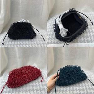 2020The esponja saco de couro Envelope ombro Luxo Bolsas Mulheres Designer Voluminous Rodada bolsas forma e Bolsas Dumpling Nuvem pacote ZLDL #