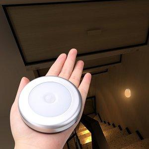 Cgjxs Pir Hareket Sensörü Gece Işığı İndüksiyon Lambası Dolap Koridor Kabine Led Sensör Işık Powered Duvar Işık Pil Aktif 6led
