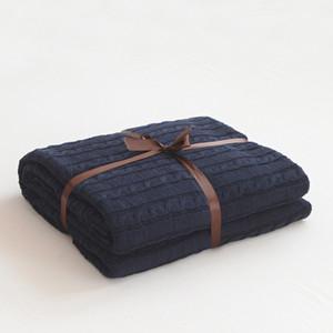 Новый Полосатый Throw Одеяло хлопок Ins Флис Вязаные чехлы для фото Диван-кровать Home VS H Weighted Gravity фланель Одеяла