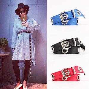 New Fashion Women Canvas Belts Hollowed Out Air Hole Style Euramerican Stylish Waist Belt 2020 Designer Corset Belts for Ladies