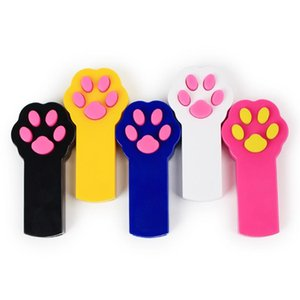 New Footprint Shape LED Light Laser Toys Laser Tease Funny Cat Rods Pet Cat Toys Creative free shipping