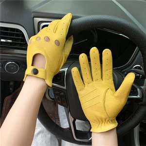 Motorcycle sheepskin gloves mens outdoor sports driving retro motorcycle touch screen gloves warm in autumn and winter