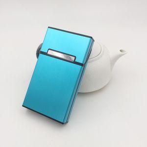Aluminum Alloy Madam Thin Cigarette Cases Tobacco Holder Pocket Box for Women Cigarettes Storage Container Smoking Accessories