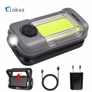 LED COB Work Light USB Charging Magnet 180 Degree Rotary Bracket For Outdoor Camping Emergency Lamp Powerbank tE5S#