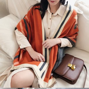 2020 Winter Scarf for Women Horse Scarves Lady Thick Cashmere Warm Blanket Shawls Warps Stole
