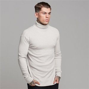 New Spring Autumn Men's Sweater Mens Turtleneck Solid Color Casual Sweater Men Slim Fit Pull homme Brand Knitted Pullovers 0924