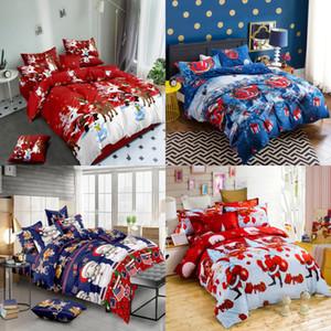 Weihnachtsgeschenk 3pcs Chirtmas Bettwäsche-Set Weihnachtsmann Bettbezug-Set Twin / Full / Queen / King Größe Bettwäsche Ein Bettbezug und zwei Kissen-